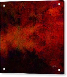 Inferno - Abstract - Art  Acrylic Print by Ann Powell