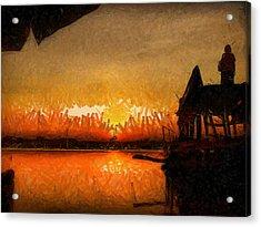Infinite Oz Sun Set  Acrylic Print by Teara Na