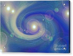 Infinity Blue Acrylic Print by First Star Art
