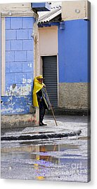 Information Man In Penipe Ecuador Acrylic Print by Al Bourassa