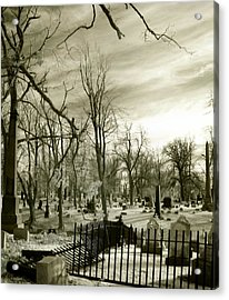 Infrared Cemetery Acrylic Print by Gothicolors Donna Snyder