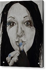 Inner Struggle Acrylic Print by Corina Bishop