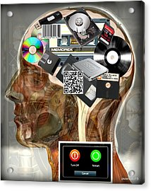 Input - Output - Processing And Storage Of The Data And Information Acrylic Print by Paulo Zerbato