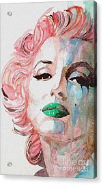 Insecure  Flawed  But Beautiful Acrylic Print by Paul Lovering