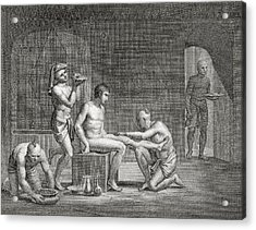 Inside An Egyptian Bathhouse, C.1820s Acrylic Print by Dominique Vivant Denon