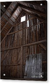 Inside An Old Barn Acrylic Print by Edward Fielding