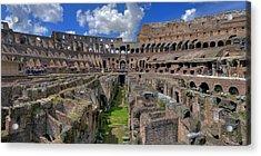 Inside Colosseum Acrylic Print by Patrick Jacquet