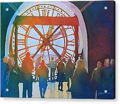 Inside Paris Time Acrylic Print by Jenny Armitage