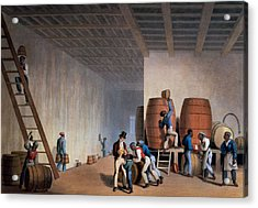 Inside The Distillery, From Ten Views Acrylic Print by William Clark