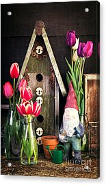 Inside The Potting Shed Acrylic Print by Edward Fielding