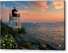 Inspirational Seascape - Newport Rhode Island Acrylic Print by Thomas Schoeller