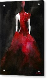 Inspired By Alexander Mcqueen Fashion Illustration Art Print Acrylic Print by Beverly Brown Prints