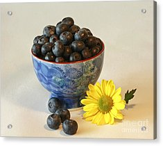 Inspired By Blue Berries Acrylic Print by Inspired Nature Photography Fine Art Photography