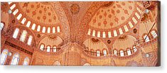 Interior, Blue Mosque, Istanbul, Turkey Acrylic Print by Panoramic Images