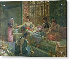 Interior Of A Harem Acrylic Print by Leon-Auguste-Adolphe Belly