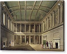Interior Of Concert Room, From Bath Acrylic Print by John Claude Nattes