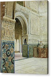 Interior Of The Alhambra  Acrylic Print by French School
