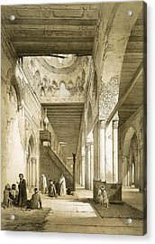 Interior Of The Maqsourah In The 9th Acrylic Print by Philibert Joseph Girault de Prangey