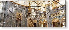 Interiors Of A Mosque, Rustem Pasa Acrylic Print by Panoramic Images