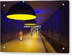 Interiors Of An Underground Station Acrylic Print by Panoramic Images