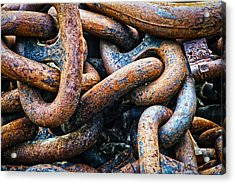 Interlocked Acrylic Print by Christi Kraft