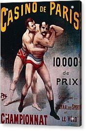 International Wrestling Championship Acrylic Print by Pal Jean de Paleologue