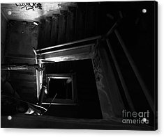 Into The Abyss - Bw Acrylic Print by James Aiken