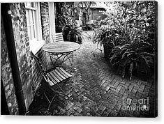 Into The Courtyard Acrylic Print by John Rizzuto