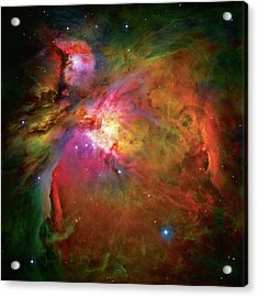 Into The Orion Nebula Acrylic Print by The  Vault - Jennifer Rondinelli Reilly