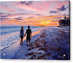 Into The Sunset Acrylic Print by Mary Giacomini