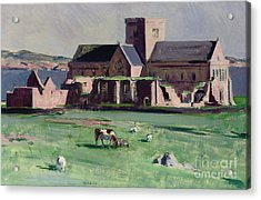 Iona Abbey From The Northwest Acrylic Print by Francis Campbell Boileau Cadell