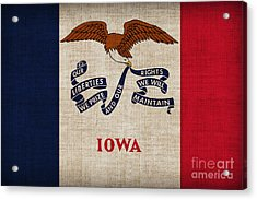 Iowa State Flag Acrylic Print by Pixel Chimp