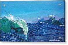 Ipanema Beach Acrylic Print by Chikako Hashimoto Lichnowsky