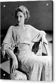 Irene Hervey, 1933 Acrylic Print by Everett