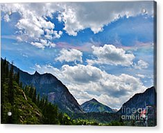 Iridescent Clouds Above Ouray Colorado Acrylic Print by Janice Rae Pariza
