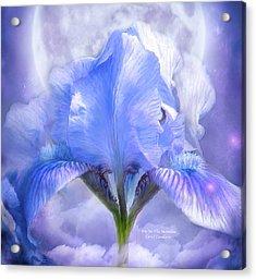 Iris - Goddess In The Moonlite Acrylic Print by Carol Cavalaris