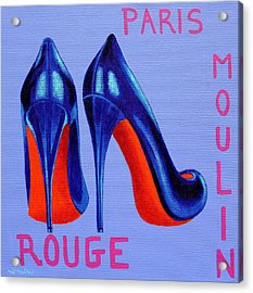 Irish Burlesque Shoes Acrylic Print by John  Nolan