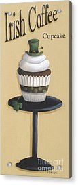 Irish Coffee Cupcake Acrylic Print by Catherine Holman