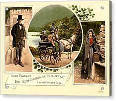 Irish Peasants And A Jaunting Car Acrylic Print by Vintage Image