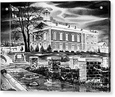 Iron County Courthouse IIi - Bw Acrylic Print by Kip DeVore