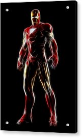 Iron Man - Tony Stark Acrylic Print by - BaluX -