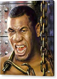 Iron Mike Tyson-no Blood No Glory 1a Acrylic Print by Reggie Duffie
