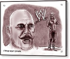 Iron Sheik Acrylic Print by Chris  DelVecchio