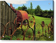 Iron Wheels, Dahmen Barn, Uniontown Acrylic Print by Michel Hersen