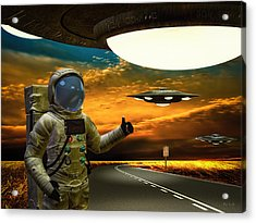 Ironic Number Four - Hitchhiker Acrylic Print by Bob Orsillo