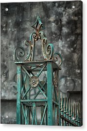 Ironwork In The Quarter Acrylic Print by Brenda Bryant