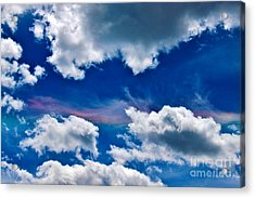 Irridescent Rainbows Among The Clouds Acrylic Print by Janice Rae Pariza