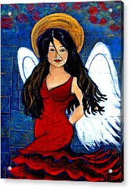 Isabella  A Spanish Earth Angel From Cultures Around The World Acrylic Print by The Art With A Heart By Charlotte Phillips