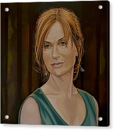 Isabelle Huppert Painting Acrylic Print by Paul Meijering