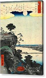 Ishiyama Autumn Moon 1857 Acrylic Print by Padre Art